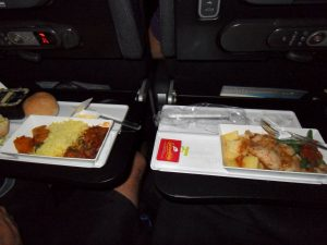 Good food served on Air New Zealand: Auckland to Rarotonga