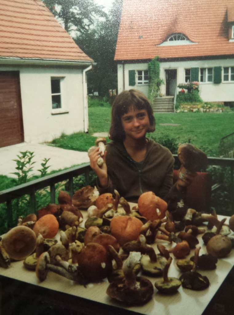 Me at the age of 11 after mushroom picking in the Polish forest