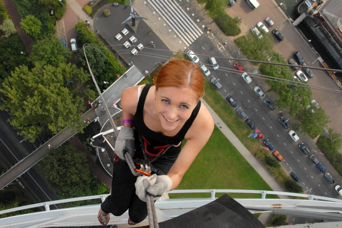 Overcoming my fear of heights...