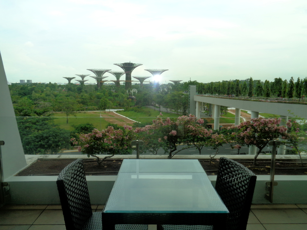 terrace overlooking the Gardens by the Bay