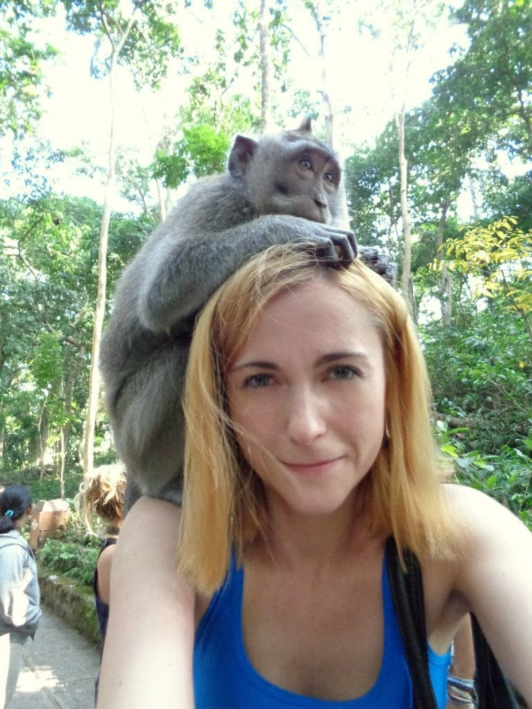 Selfie with a monkey!