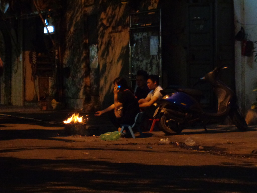 Cooking on the street.