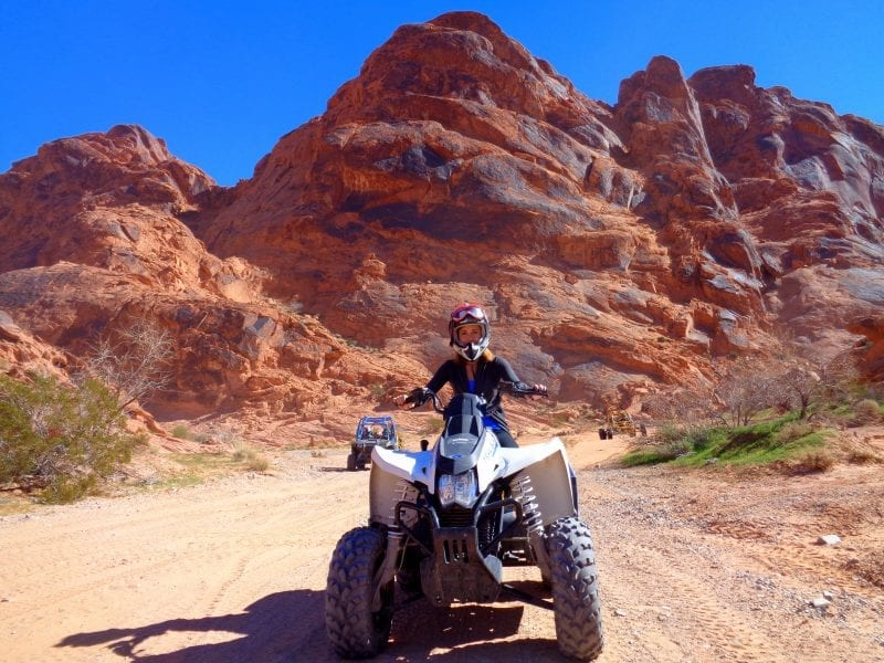 Exploring the Valley of Fire desert with an ATV