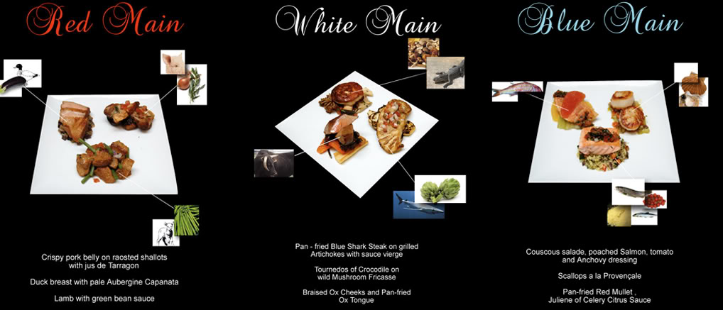 Sample menu from previous months.