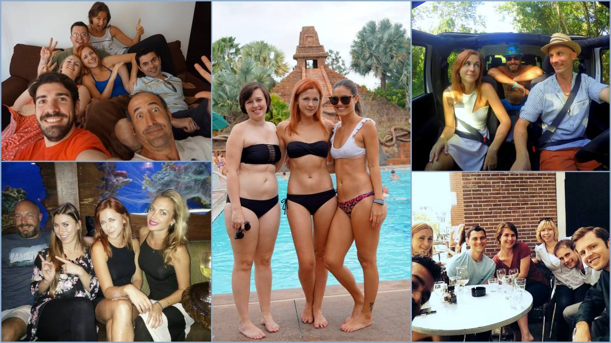 Some of the amazing travel bloggers I met!
