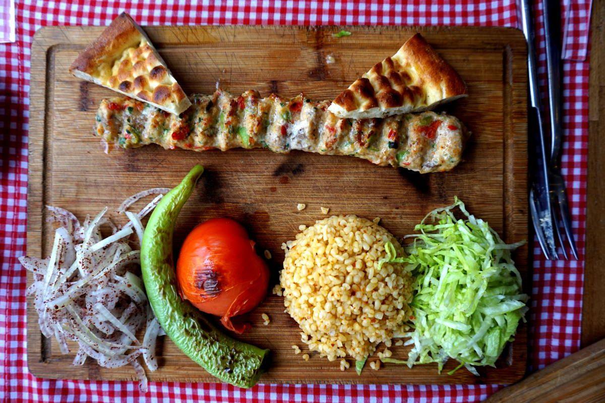 Not a desert, but still a bunch of great Turkish food!