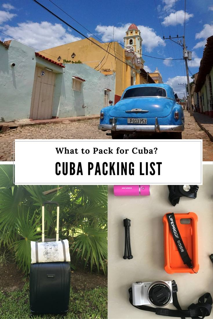 Cuba Packing List