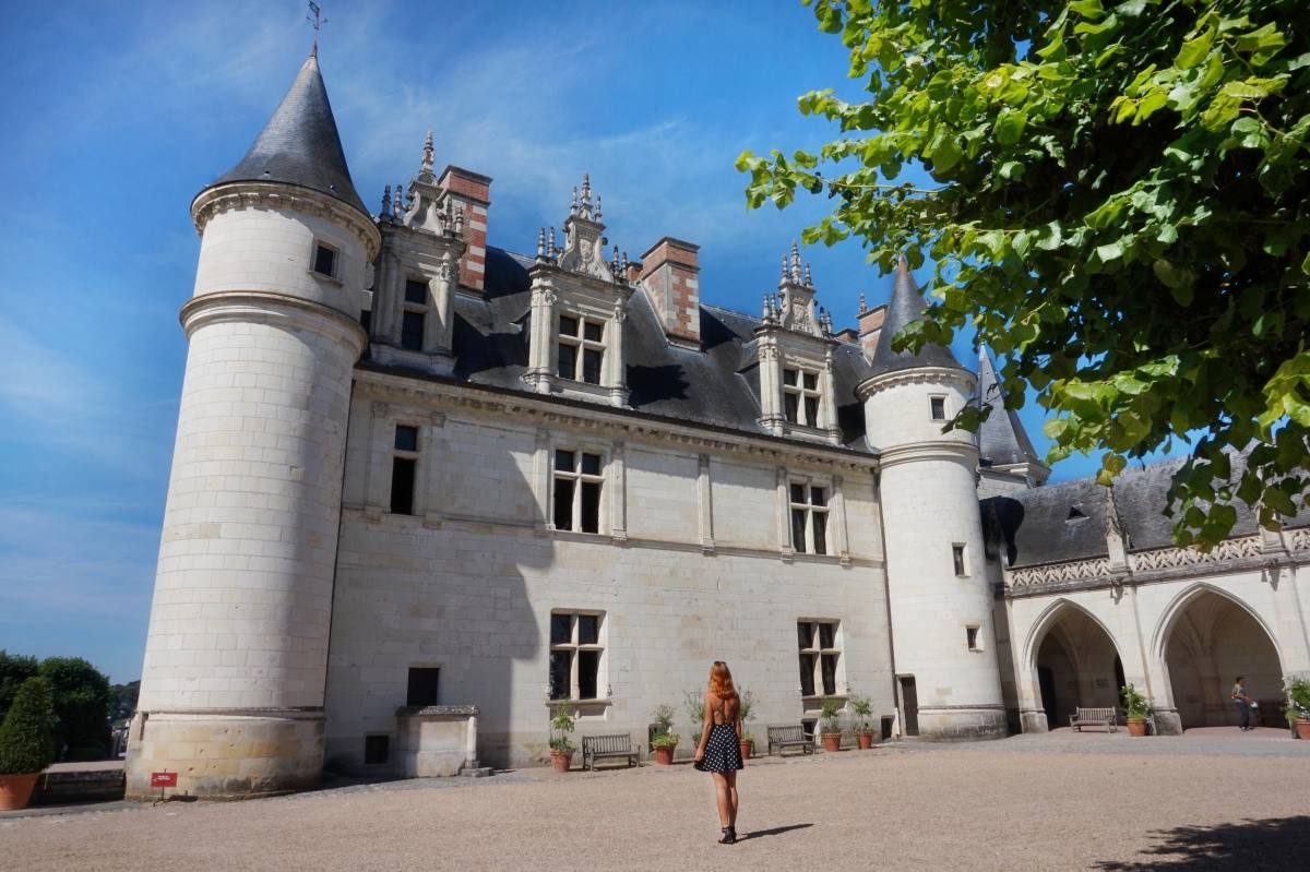Looking at the Amboise castle