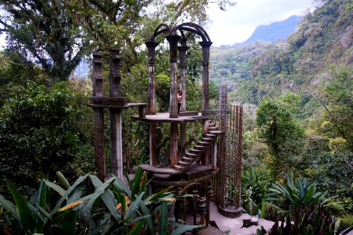 Surrealist garden of Edward James called Las Pozas