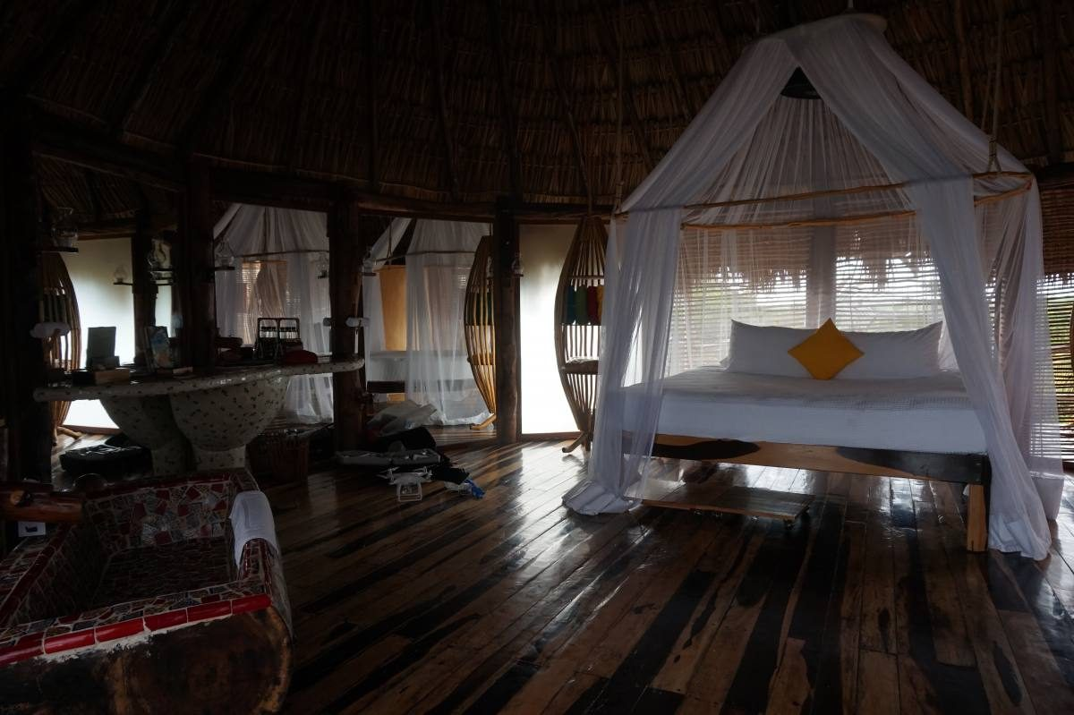 Inside our room, right before it got dark...