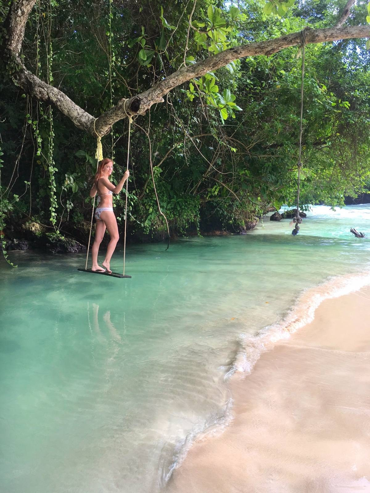 Hanging out at James Bond's beach in Jamaica!