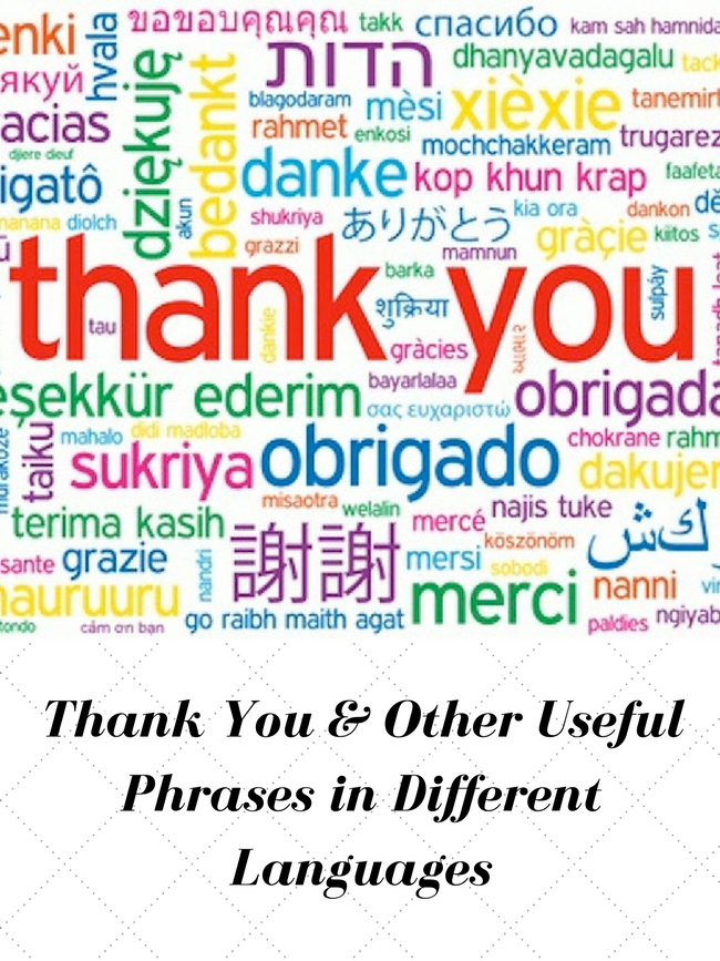Thank You Good Morning In Different Languages Anna