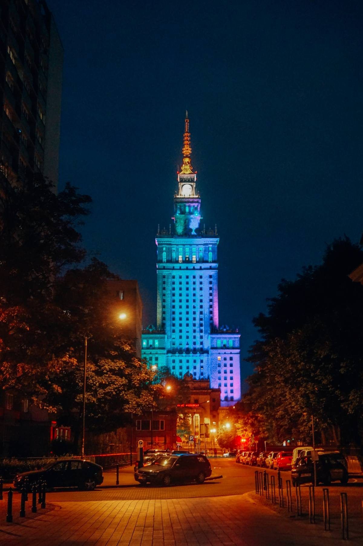 Palace of Culture night