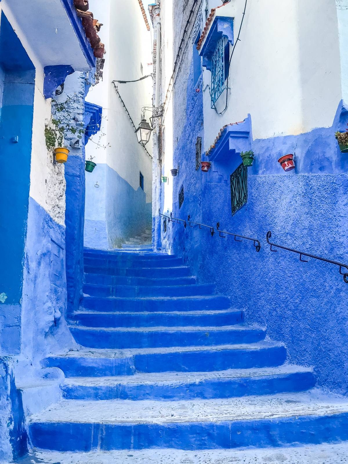 streets of Chefchaouen Morocco