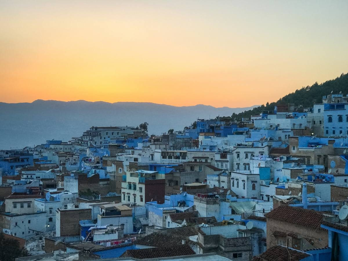sunset Chefchaouen