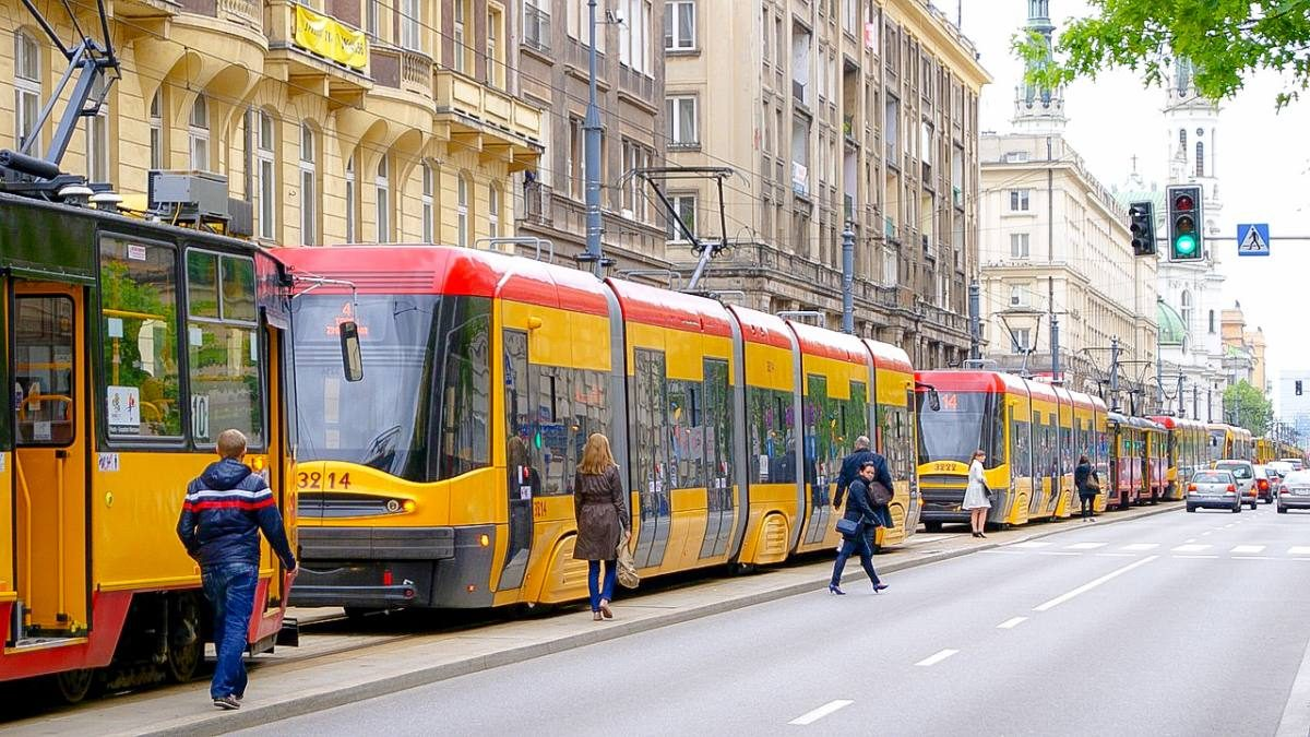 trams in Warsaw