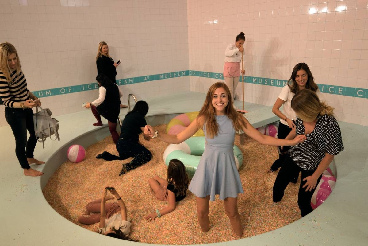 Sprinkles pool ice cream
