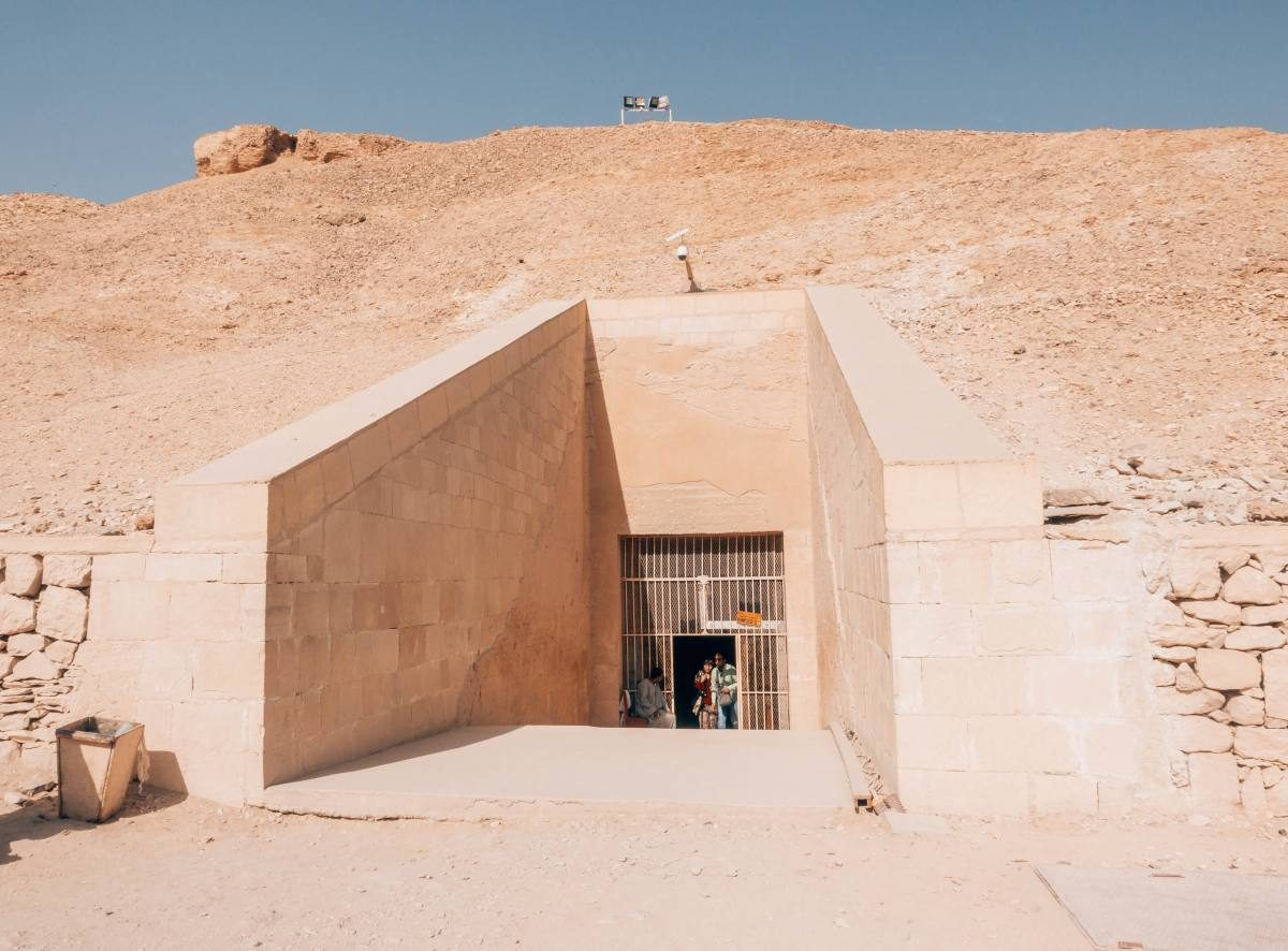 entrance to the tomb