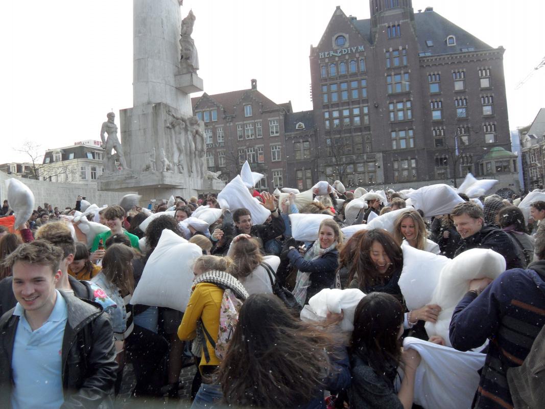Amsterdam pillow fight