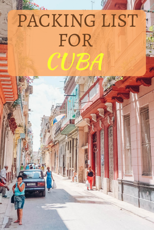 Packing List for Cuba