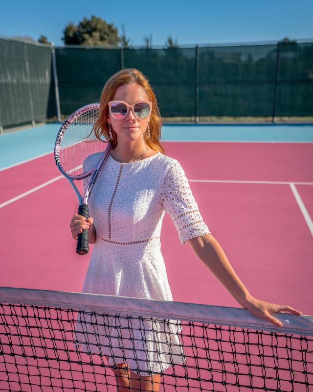 Madonna Inn pink tennis