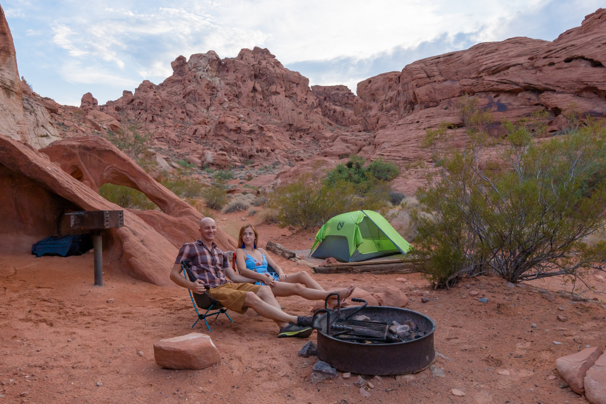 Valley of Fire camping