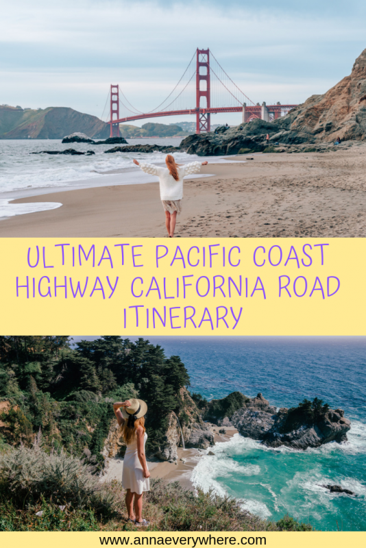 Pacific Coast Highway Itinerary