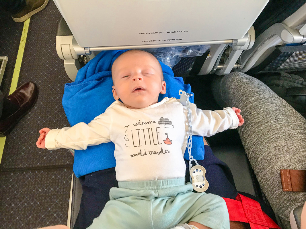 Flying With An Infant On a Lap