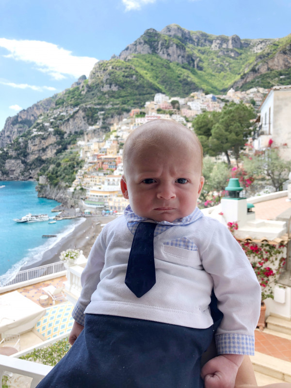 Positano with a baby