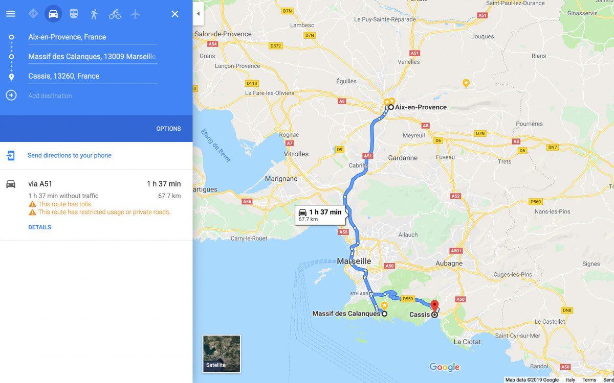 Day 2: Aix-en-Provence - Massif des Calanques - Cassis