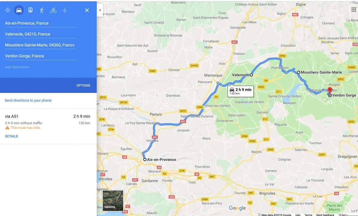 Day 6: Valensole - Moustiers-Sainte-Marie - Verdon Gorge
