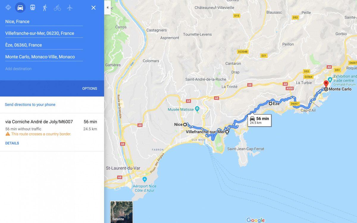 Villefranche-sur-Mer - Eze - Monaco