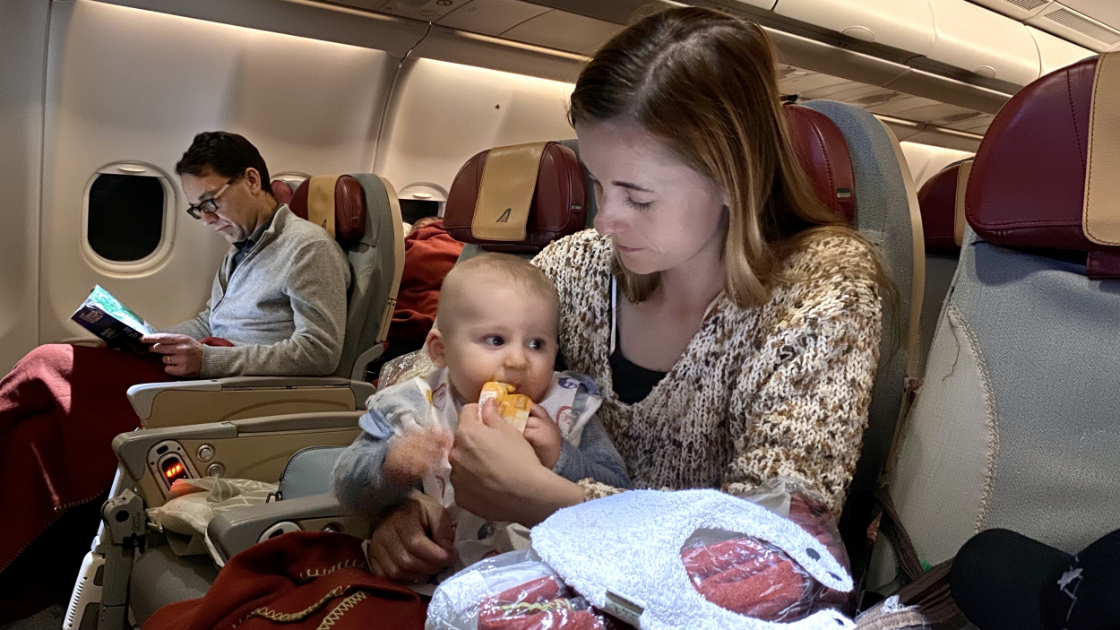 flying to Europe with a baby