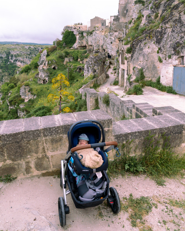 Matera with a baby