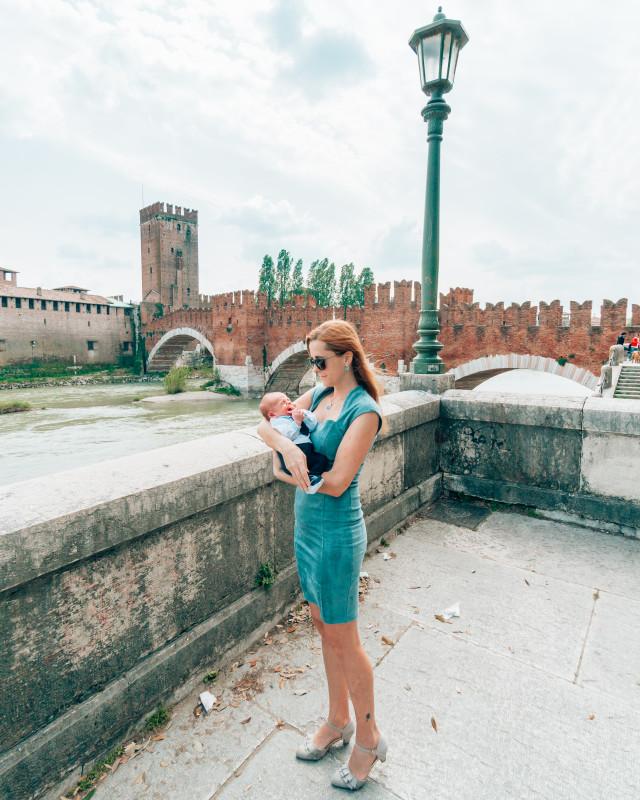 Verona with a baby