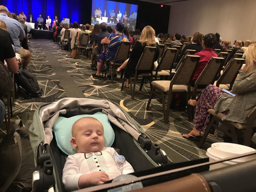 conference with a baby