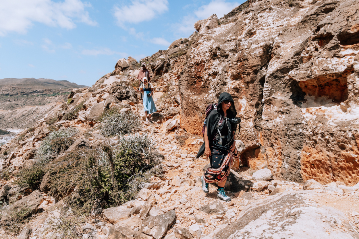 hiking in Socotra