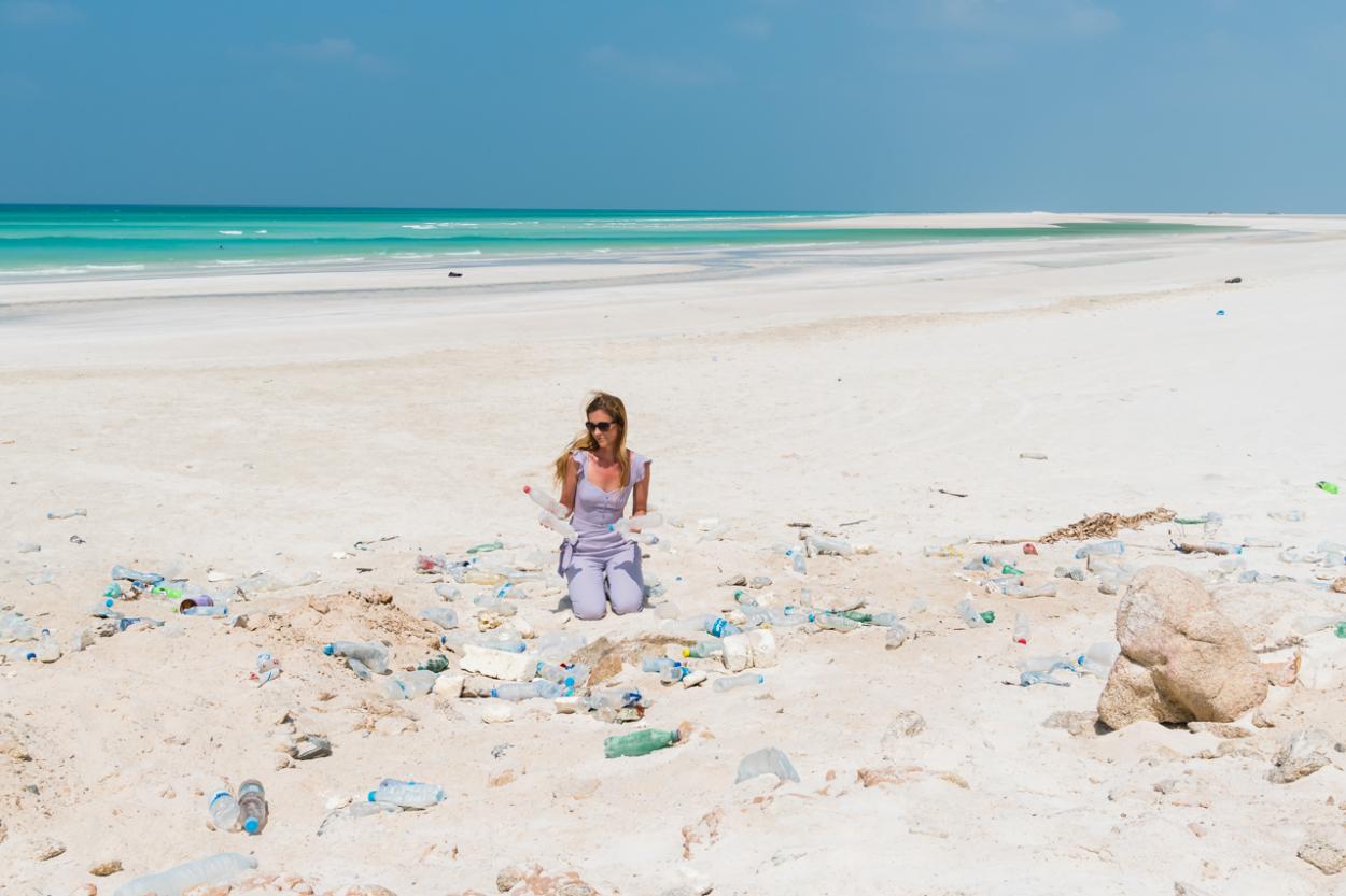 trash beach socotra